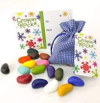 Crayon Rocks in a Special Occasion Bag (Christmas Special, Blue Gingham Bag)