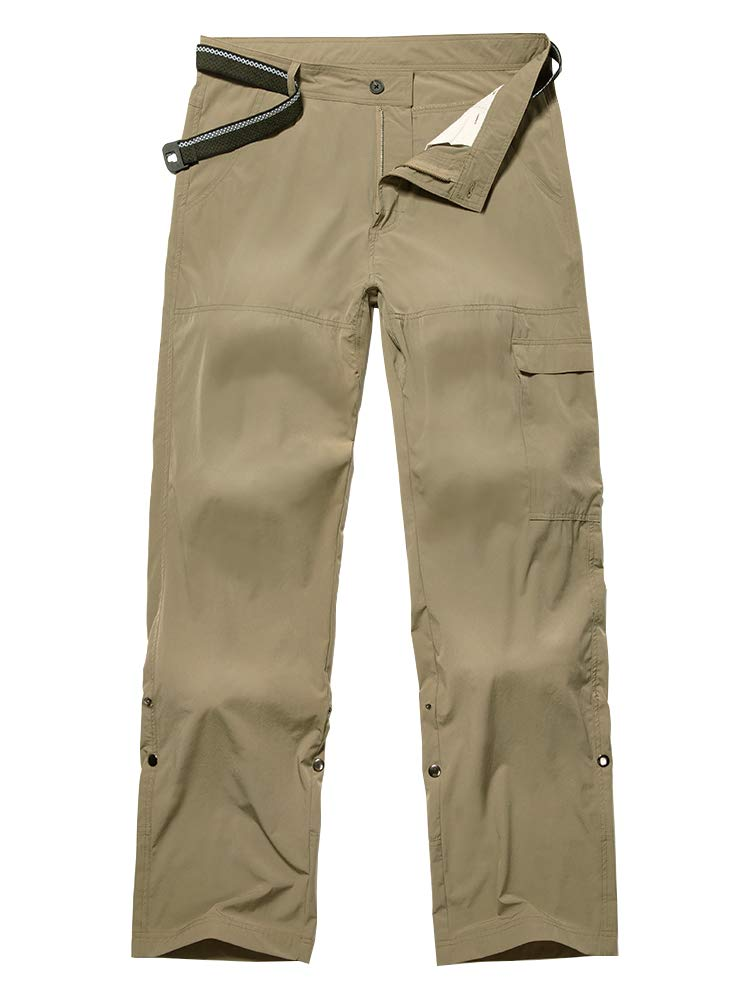 Toomett Men's Outdoor Quick-Dry Lightweight Trail Waterproof Hiking 4-Way Stretch 40-UPF Mountain Pants
