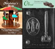 Cybrtrayd Legal Kit Chocolate Candy Mold with Chocolatier's Guide Instructions Book Manual