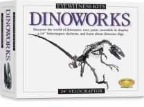 "Skullduggery Eyewitness Kits Perfect Cast Dinoworks 24"" Velociraptor Cast, Paint, Display and Learn Craft Kit"