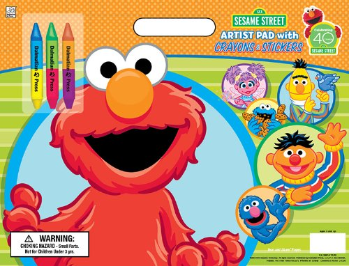 Sesame Street Artist Pad with Stickers and Crayons