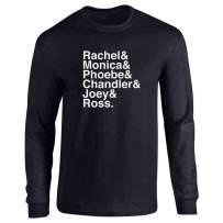 Pop Threads How You Doin Best Friends Funny Retro 90s Cute Full Long Sleeve Tee T-Shirt