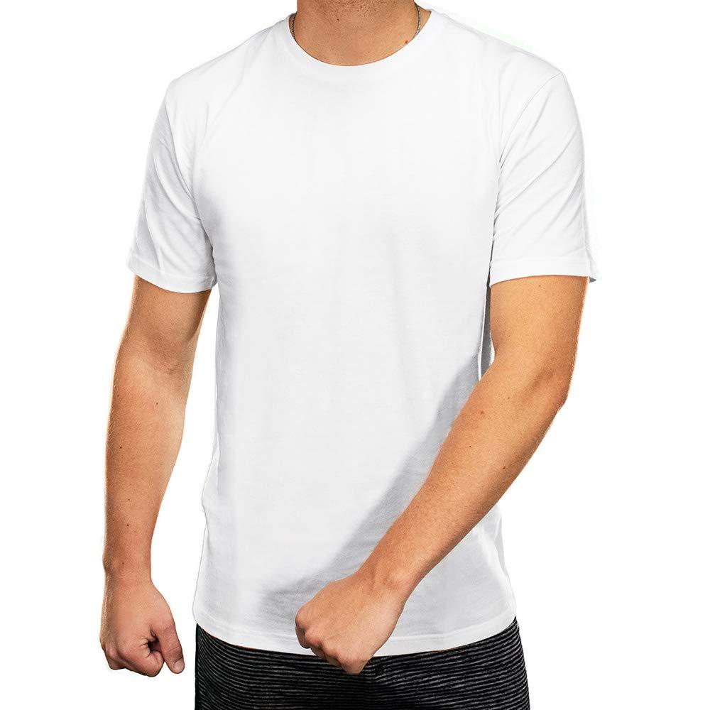 Golberg 3 Pack of Cotton Crew Neck Undershirts - Black or White - Tagless