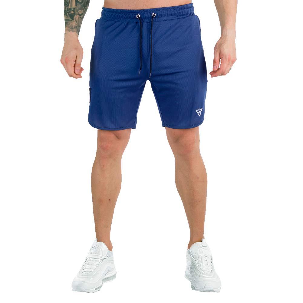 "Wangdo Men's Workout Shorts 7"" Running Shorts Athletic Bike Shorts Gym Shorts for Men with Zipper Pocket"