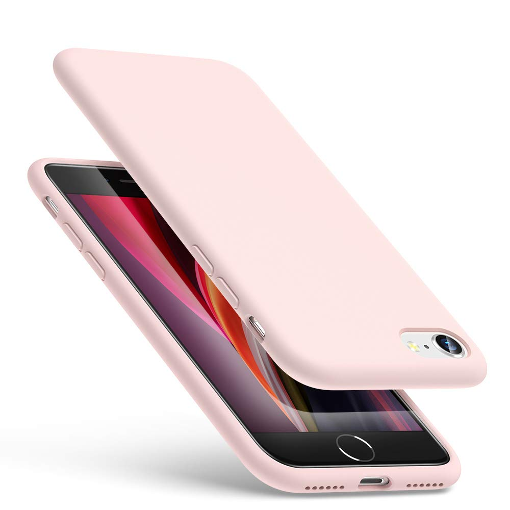 """ESR Yippee Color Soft Case for iPhone 4.7""""/8/7, Liquid Silicone Rubber Case Cover [Comfortable Grip] [Screen & Camera Protection] [Velvety-Soft Lining] [Shock-Absorbing] for iPhone 4.7""""/8/7 – Pink"""