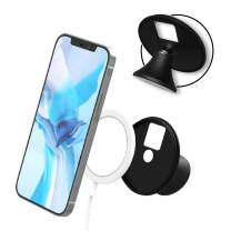 CloudValley Phone Car Mount [Car Dashboard] Compatible with iPhone Magsafe Charger & iPhone 12 Series, 360° Rotation Black Car Holder, Stand for Window Shield, Office Desk, Mirror, Wall, Flat Surface