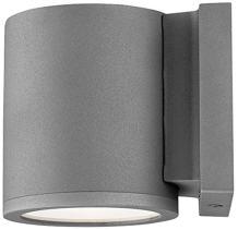 WAC Lighting WS-W2605-GH Tube LED Outdoor Wall Light Fixture, Dark Sky Friendly Single Light, 3000K in Graphite Finish
