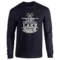 Camp Crystal Lake Counselor Horror Movie Vintage Full Long Sleeve Tee T-Shirt