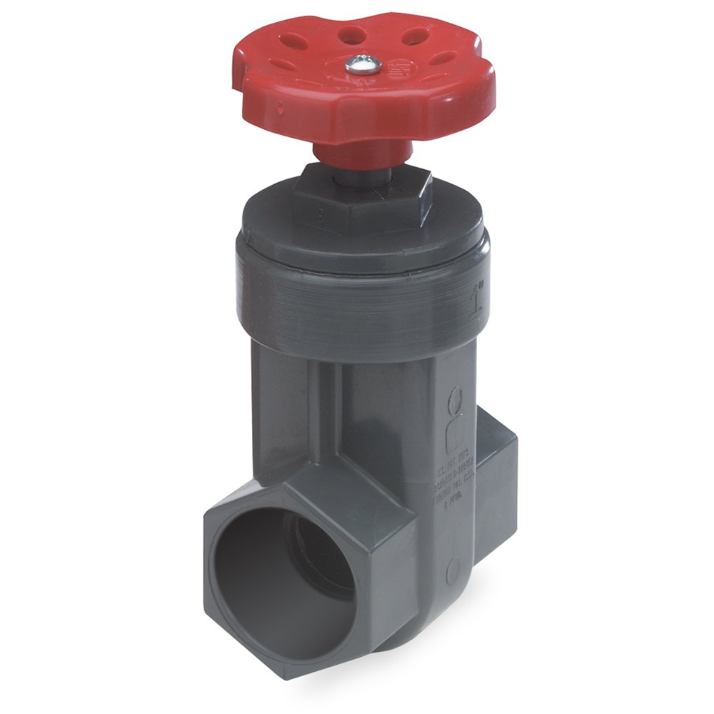 NDS GVG-1250-S 1-1/4-Inch Slip PVC Schedule 80 Gate Valve, Gray
