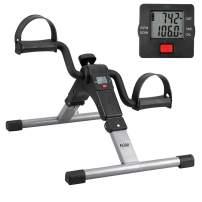Folding Pedal Exerciser Mini Exercise Bikes Arm and Leg Exercise Peddler Machine
