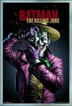 "Trends International DC Comics Movie - The Killing Joke - Key Art Wall Poster, 22.375"" x 34"", Silver Framed Version"