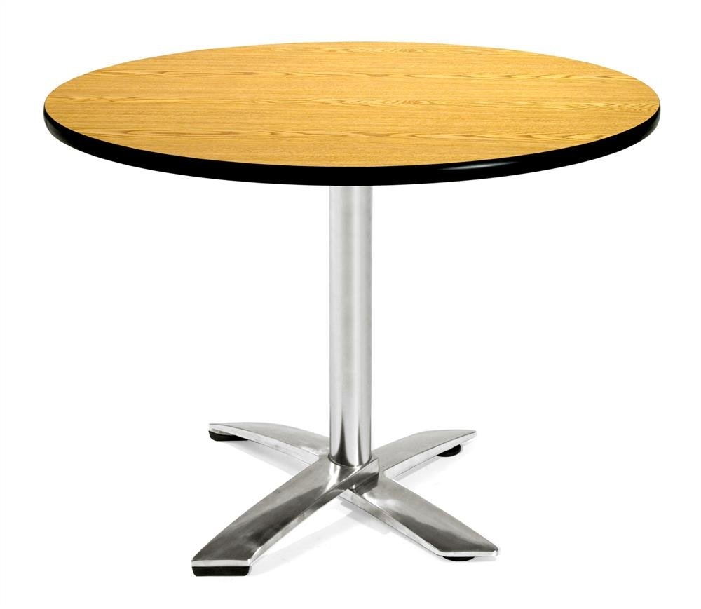 """OFM Core Collection 42"""" Round Flip-Top Multi-Purpose Table, in Oak (KFT42RD-OAK)"""