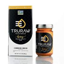 TRURAW Premium Raw Honey 100% Natural, Pure, NON-GMO Project Verified, Unfiltered 400 grams/14oz