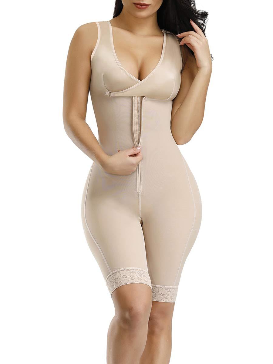 SELUXU Women Waist Trainer Bodysuit Tummy Control Corset Full Body Shaper Cincher Shapewear