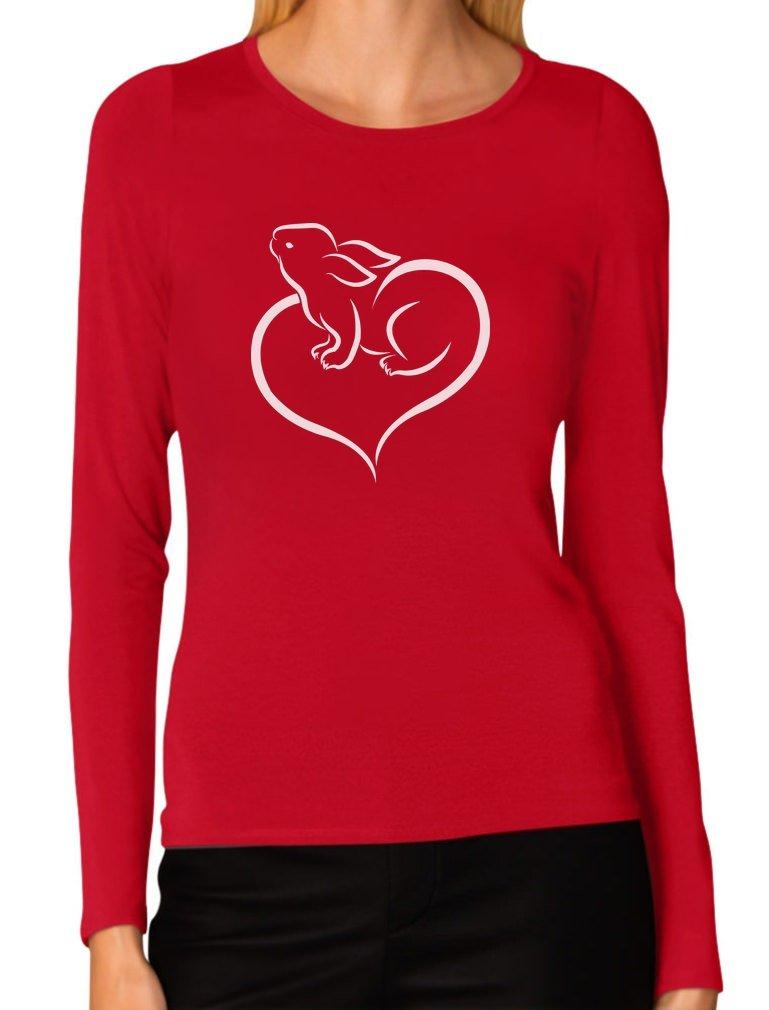 Tstars - Love Heart Bunny Easter Women Long Sleeve T-Shirt