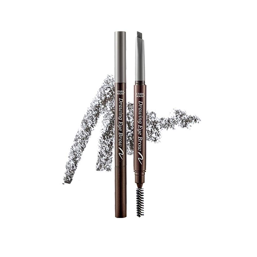 ETUDE HOUSE Drawing Eye Brow 0.25g #5 Grey   Long Lasting Eyebrow Pencil   Soft Textured Natural Daily Look Eyebrow Makeup