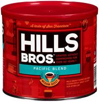 Hills Bros Pacific Blend Ground Coffee, Medium Roast Coffee, 23 Oz. Can - Rare Coffee Beans from the Pacific Tropics, Smooth and Slightly Sweet Flavor