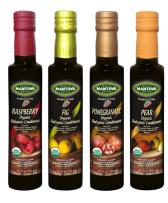 Mantova Organic Flavored Balsamic Vinegar of Modena, Pear, Raspberry, Fig and Pomegranate Vinegar 4-Pack Variety Set, 8.5 fl oz. Per Bottle Great Gift Set