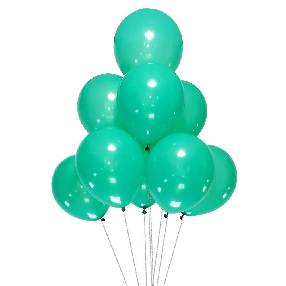 AZOWA Teal Blue Latex Balloons 12 inch Small Party Balloons Pack of 200 for Wedding Baby Shower Birthday Party Decorations