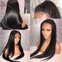 Straight 13x6 Lace Front Human Hair Wigs With Baby Hair For Black Women Deep Parting Remy Hair Glueless Lace Front Wig Pre Plucked With 20 inch (229g)