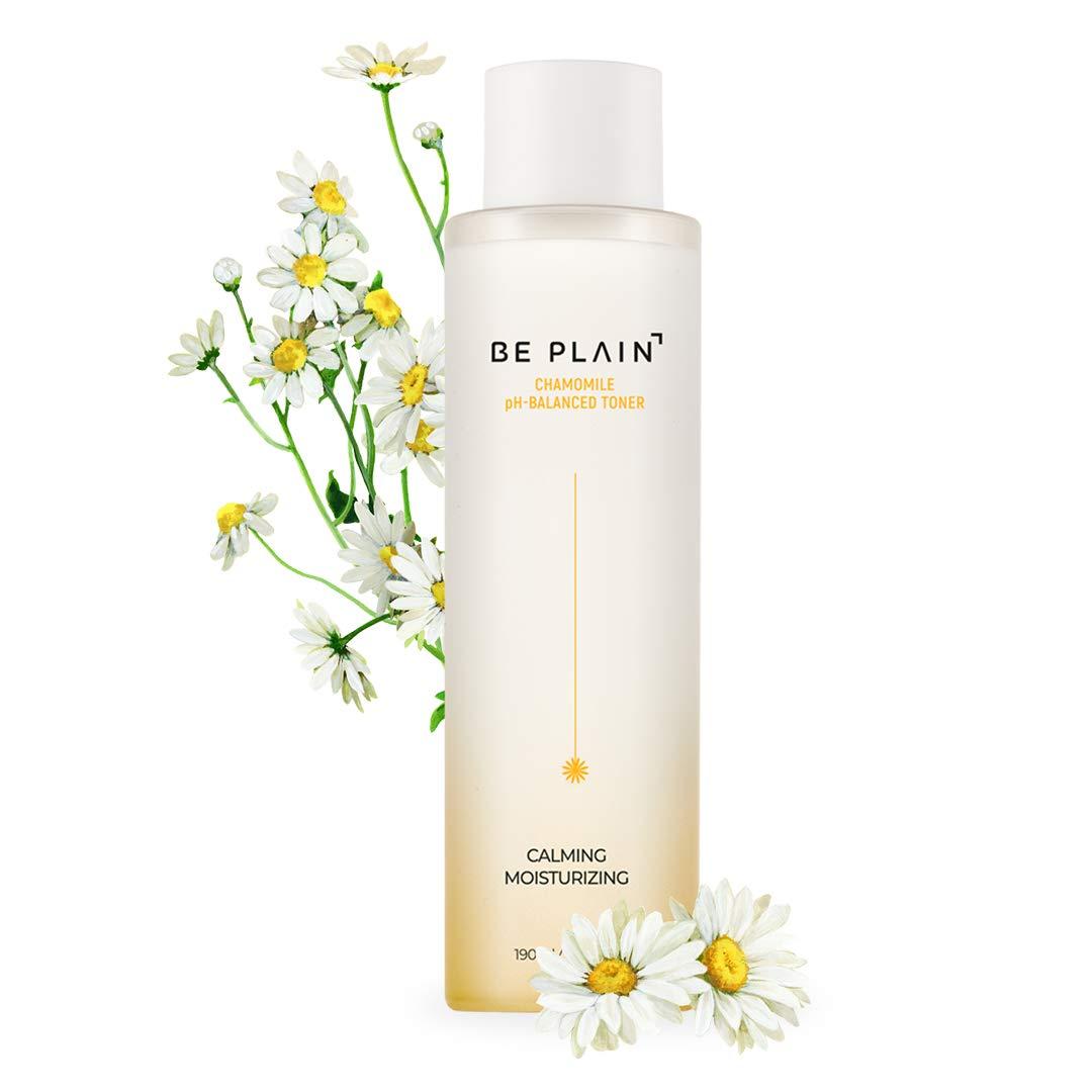BE PLAIN Chamomile pH-Balanced Toner 6.7 fl oz. - Facial Acne Toner for Face Pore Refining Natural Skin Toner for Blemish-Prone Irritated Acne Sensitive Skin Toners Made with Pure Chamomile Flower