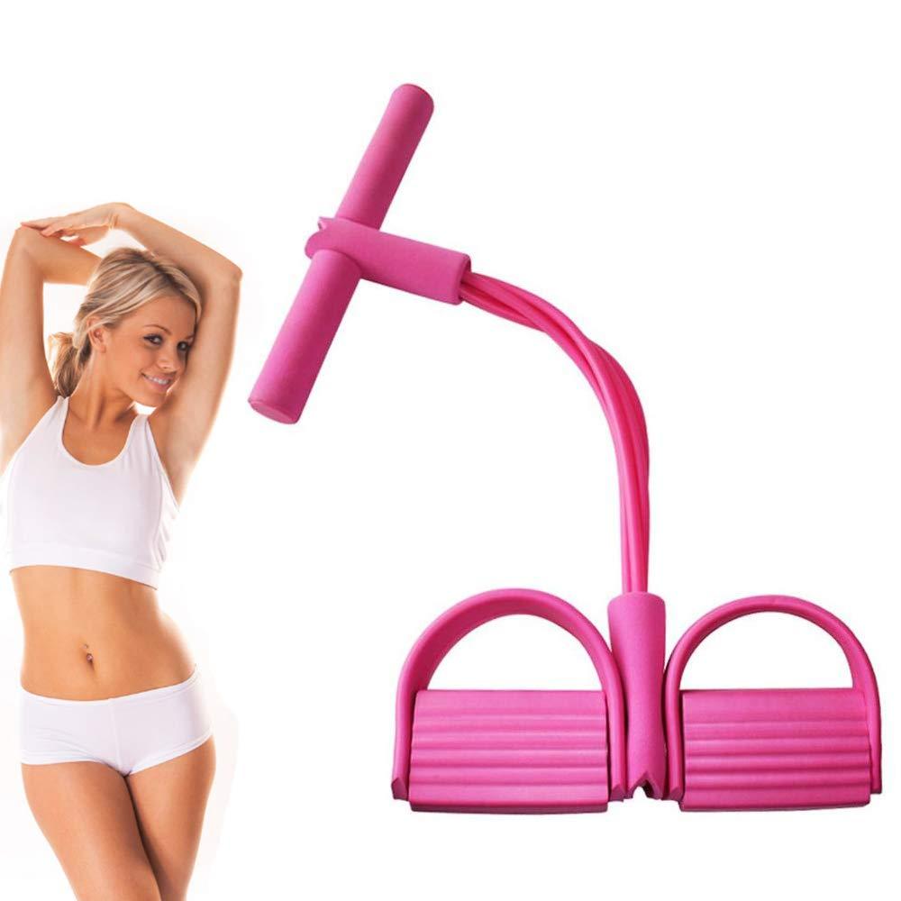 DmHirmg Multifunction Leg Exerciser,Elastic Pull Rope Training Equipment,Sit-Up Bodybuilding Expander,Pedal Resistance Band,Full Body Training Resistance Bands,Home Fitness Equipment