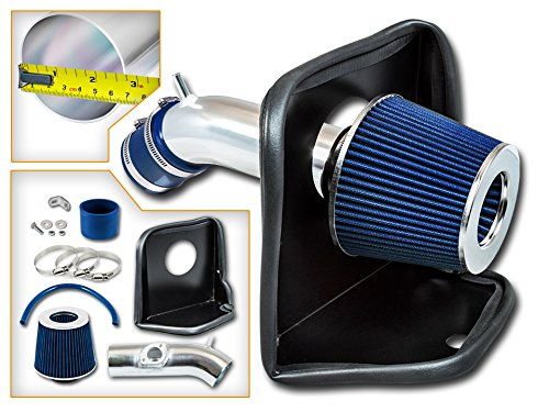 Cold Air Intake System with Heat Shield Kit + Filter Combo BLUE Compatible For 14-17 Mazda 3 / Mazda 6 2.5L L4