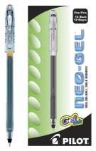 PILOT Neo-Gel Roller Ball Stick Pens, Black Ink, Fine Point, 12 Count (14001)