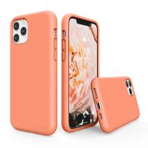 """SURPHY Silicone Case Compatible with iPhone 11 Pro Case 5.8 inches, Liquid Silicone Full Body Thickening Design Phone Case (with Microfiber Lining) for 11 Pro 5.8"""" 2019 (Peach)"""