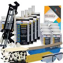 Concrete Foundation Crack Repair Kit - Ultra-Low Viscosity Polyurethane - FLEXKIT-1150-40
