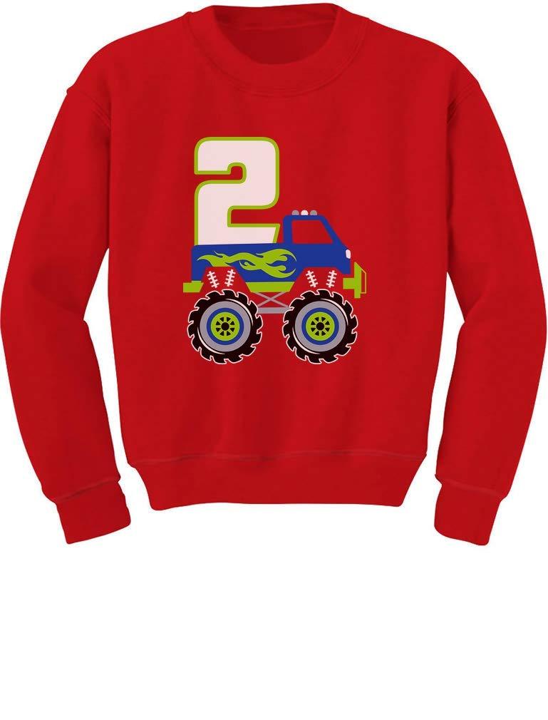 Tstars 2nd Birthday Gift for Boys 2 Year Old Boy Truck Birthday Toddler/Kids Sweatshirt