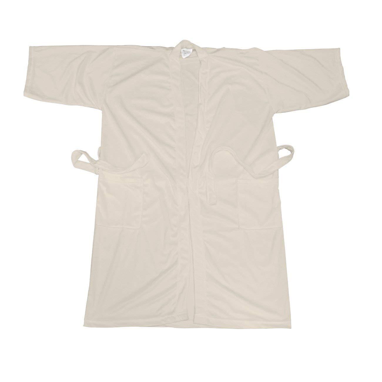 Canyon Rose Cloud 9 Women's Plush Microfiber Full Length Spa Robe, Soothing Sand, M/L