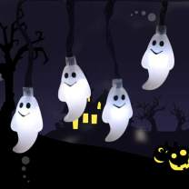 Halloween Ghost String Lights with 20 LED Battery Operated Ghost Wall Decor for Halloween Party Indoor & Outdoor Lights Decorations for Halloween,Party,Christmas(Halloween Ghost)