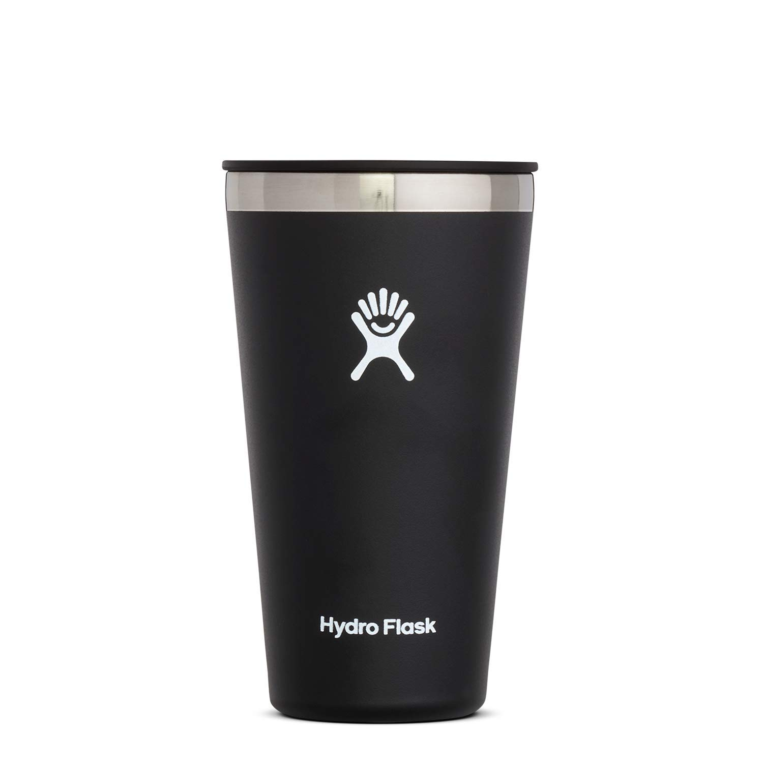 Hydro Flask Tumbler Cup - Stainless Steel & Vacuum Insulated - Press-In Lid - 16 oz, Black