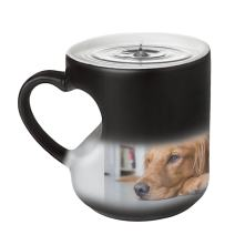 Customized Color Changing Mug Gift-Heat Changing Coffee Cup with Personalized Photo Cup & Spoon Set,DIY Print Add Your Photo & Text & Logo
