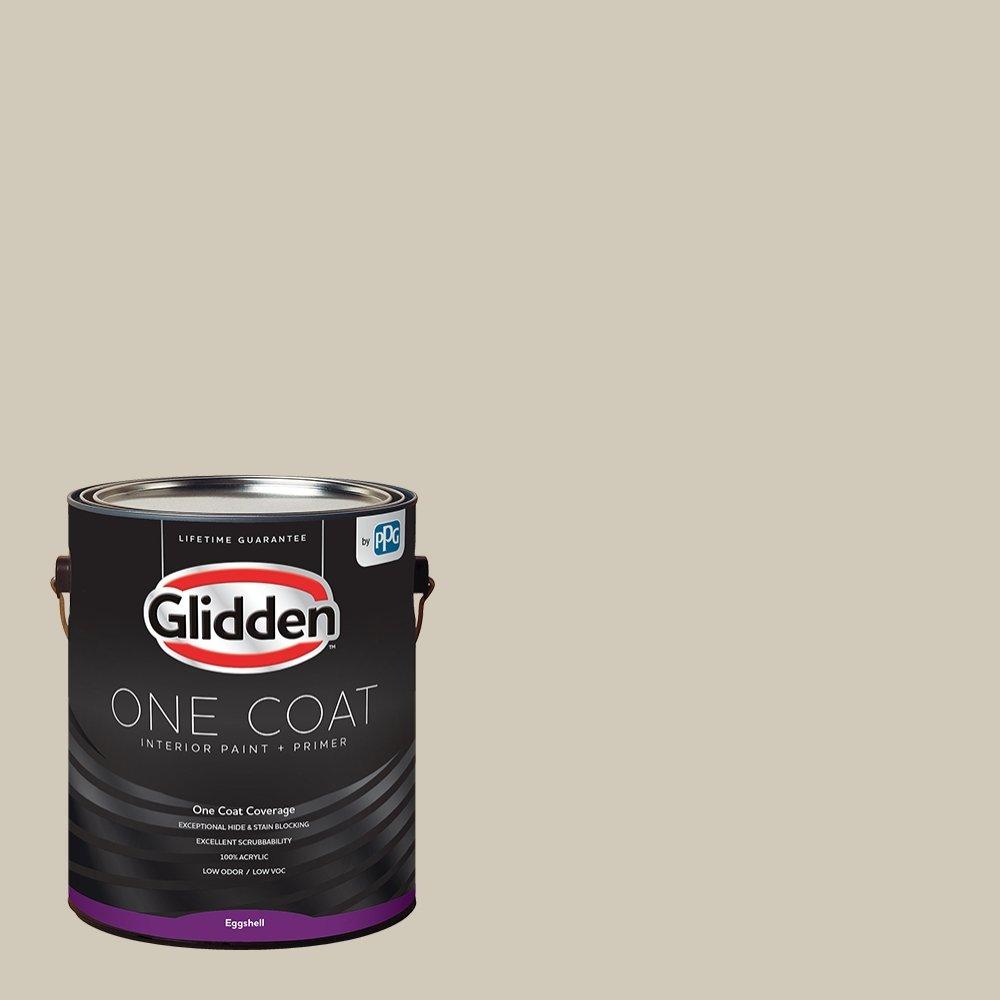 Glidden Interior Paint + Primer: Greige/Moth Gray, One Coat, Eggshell, 1-Gallon