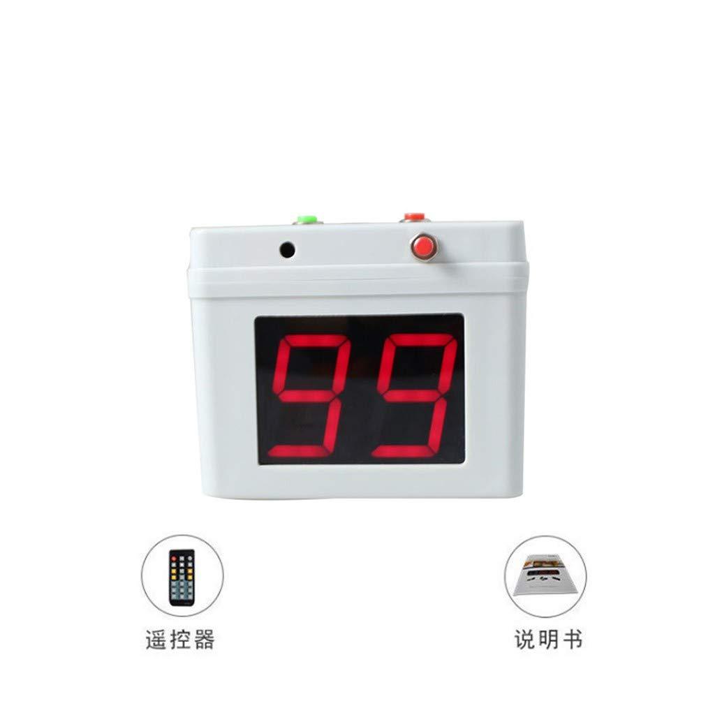 GAN XIN Digital Countdown Electronic Button Battery Powered 4 Sides Poker Tournament Timer (White)