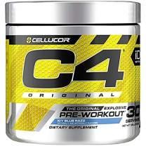 C4 Original Pre Workout Powder ICY Blue Razz| Vitamin C for Immune Support | Sugar Free Preworkout Energy for Men & Women | 150mg Caffeine + Beta Alanine + Creatine | 30 Servings