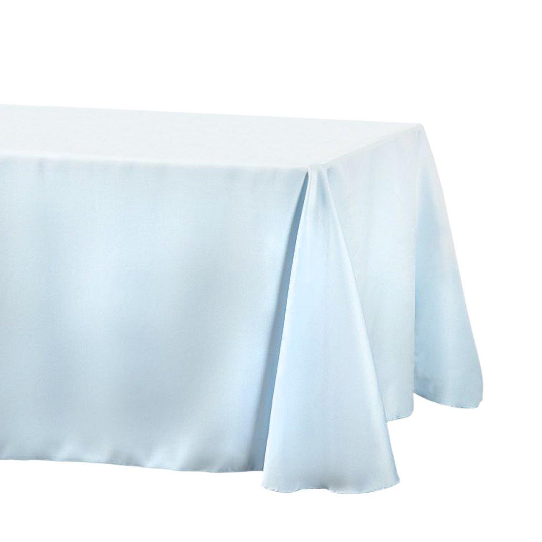 LinenTablecloth Rectangular Tablecloth, 90 x 156, Baby Blue