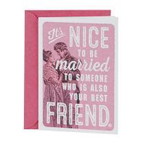 Hallmark Shoebox Funny Anniversary Card, Love Card for Spouse (Vintage Illustration)