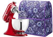 6-8 Quart Stand Mixer Cover, Dust Cover with Pockets Compatible with KitchenAid Mixers, Sunbeam Mixers, Cuisinart Mixers, Kitchen & Dining Small Appliance Dust Cover,TFC763