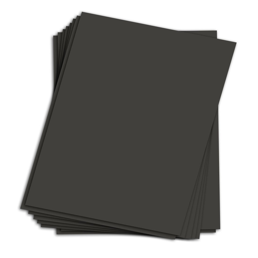 25 Sheets Black Chipboard | Medium Weight Chipboard Sheets | 30 pt (624 gsm) | 8.5 x 11 Inches