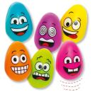 Baker Ross Multicoloured Egg Bouncy Ball, Rubber Balls for Kids Party Favours, Small Prizes and More! (Pack of 6)
