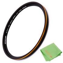 JONGSUN 62mm UV Filter, S-Pro HD Nano MRC16 Camera Ultraviolet Protection Filter, 16 Layers Multicoated, SCHOTT B270, Ultra-Slim, Lens Cloth Kit