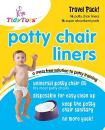 TidyTots Disposable Potty Chair Liners | Travel Pack of 16 Liners + 16 Absorbent Pads | Use Bags with Potty Training Portable Toilet for Toddlers & Kids | Universal Fit