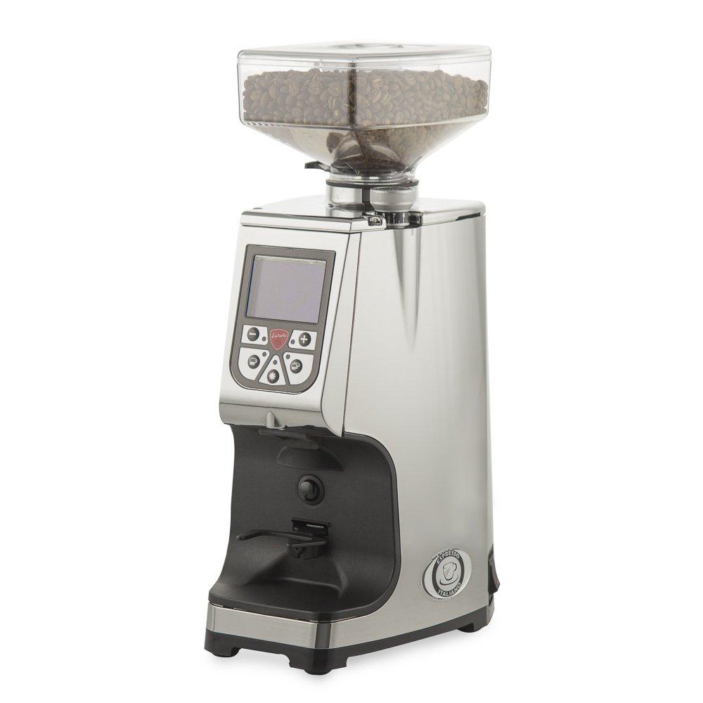 Eureka Atom Flat Burr Coffee Bean Espresso Grinder (Chrome Aluminum)