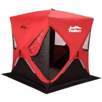 """FERRET 1-2 Person 58""""X58""""X66"""" Waterproof Pop-up Portable Ice Shelter Tent Ice Shelter Fishing Tent with Carrier Bag"""