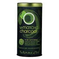 The Republic of Tea U-Matcha Charcoal Tea, 1.5 Ounces / 20+ Cups, Activated Charcoal and Matcha Tea Powder