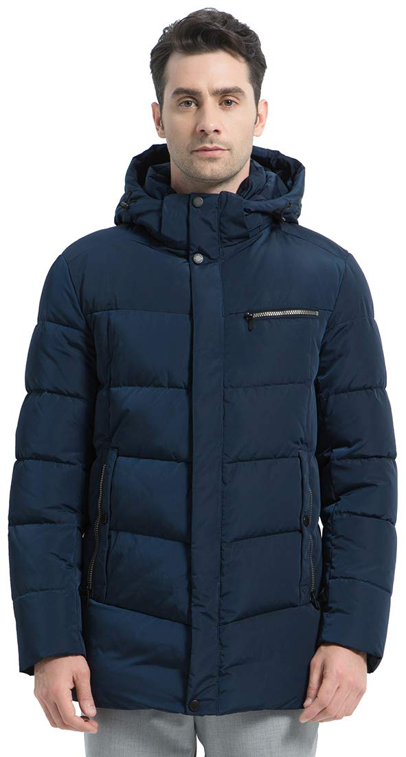 ICEbear Men's Down Coat Winter Puffer Jacket Windproof Quilted Down Parkas with Hood