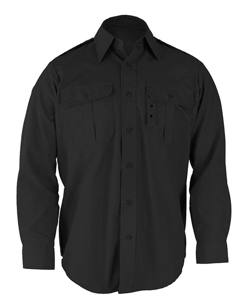 Propper Men's Long Sleeve Tactical Dress Shirt, Black, 3X Large Regular
